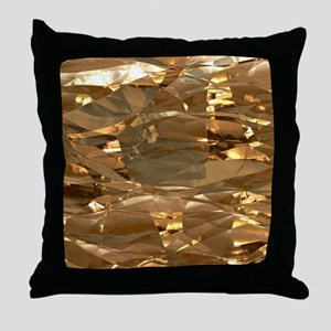 GoldFoil Throw Pillow