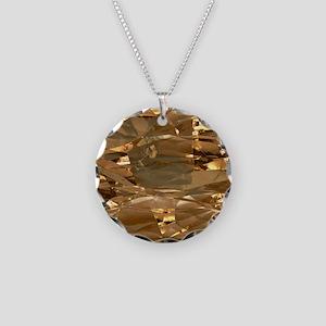 GoldFoil Necklace Circle Charm