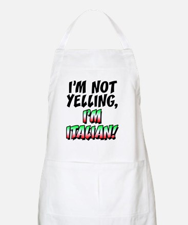 Not Yelling Im Italian Pint Apron