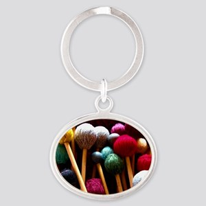 Mallets Oval Keychain