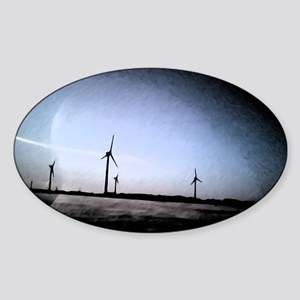 Turbines Painting Sticker (Oval)