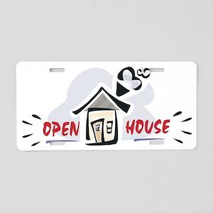 Open house Aluminum License Plate