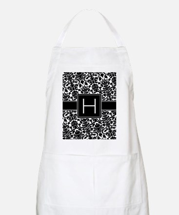 damask_monogram_H_nb Apron
