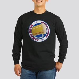 Beer Party Long Sleeve Dark T-Shirt