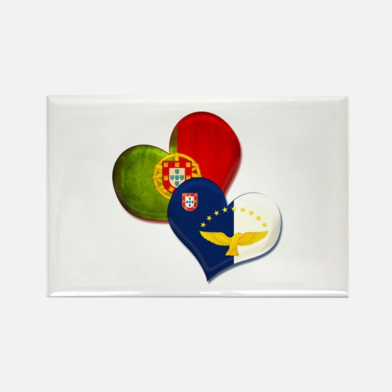 Portugal and Azores hearts s Magnets