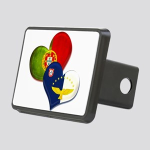 Portugal and Azores hearts Rectangular Hitch Cover
