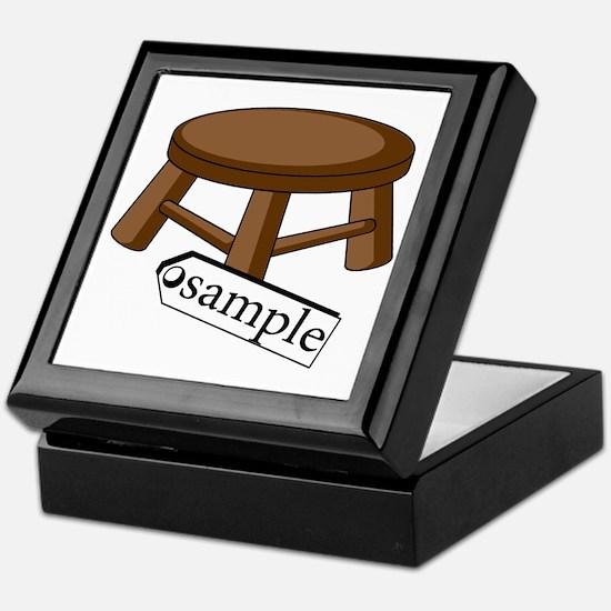 stool Keepsake Box