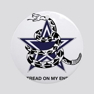 DONT TREAD STAR Round Ornament