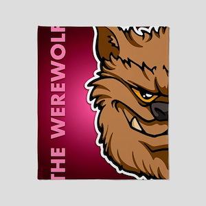 18x13-6_werewolfbrown_txt_bg01 Throw Blanket