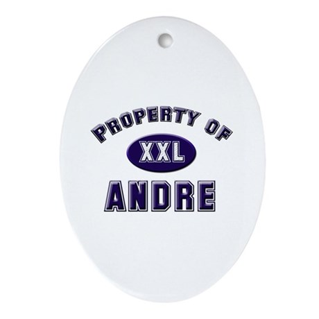 Property of andre Oval Ornament