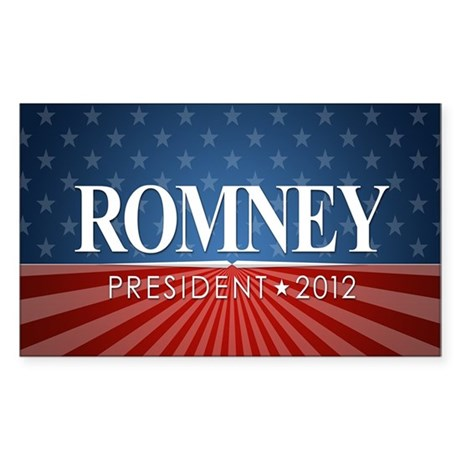 5x3 Romney Stars Stripes Sticker (Rectangle)