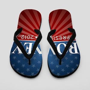 button Romney Stars and Stripes Flip Flops