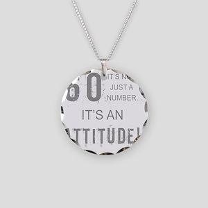 60th Birthday Attitude Necklace Circle Charm