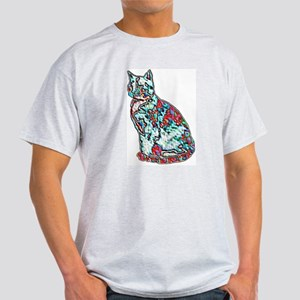 NEON CAT Ash Grey T-Shirt