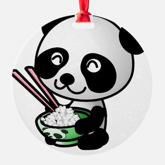 Panda Rice Black Ornament