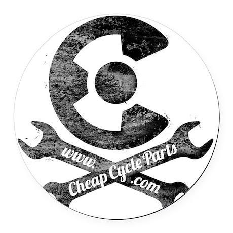 CCP_Crossbones_CafePress_Shirt Round Car Magnet