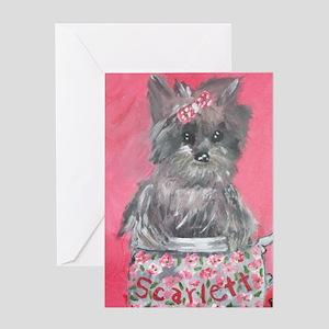 Teacup Scarlett Greeting Card