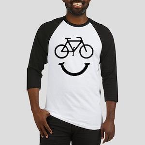 Smile Bike Black Baseball Jersey