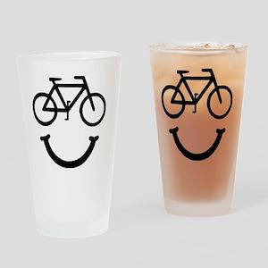 Smile Bike Black Drinking Glass
