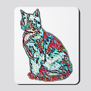 NEON CAT Mousepad