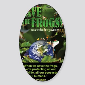 frogs_phone Sticker (Oval)