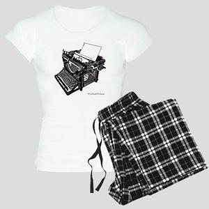 Antique typewriter Women's Light Pajamas