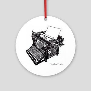 Antique typewriter Round Ornament