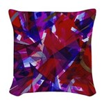 Dance of Life Abstract Woven Throw Pillow