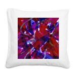 Dance of Life Abstract Square Canvas Pillow