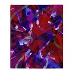 Dance of Life Abstract Throw Blanket