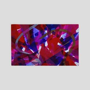 Dance of Life Abstract 3'x5' Area Rug