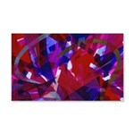 Dance of Life Abstract 20x12 Wall Decal
