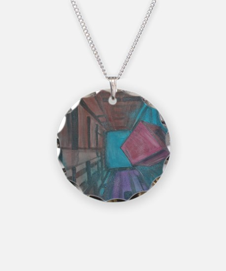 Abstract Cube Necklace