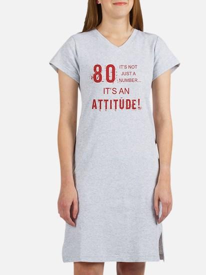 80th Birthday Attitude Women's Nightshirt
