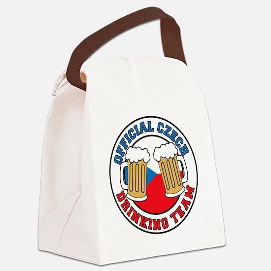 Official Czech Drinking Team Pint Canvas Lunch Bag