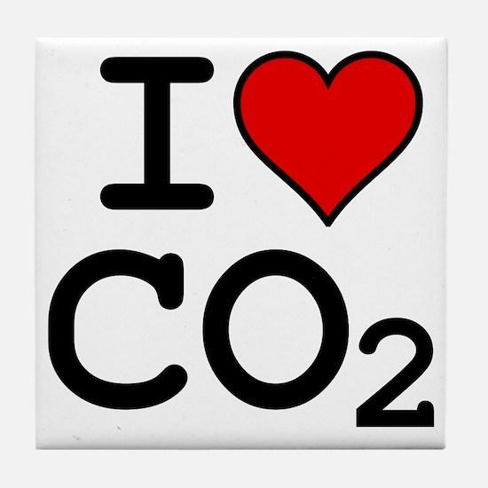 CO2_big_blk Tile Coaster