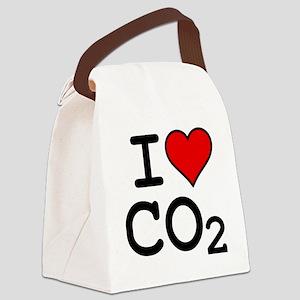 CO2_big_blk Canvas Lunch Bag