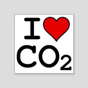 """CO2_big_blk Square Sticker 3"""" x 3"""""""