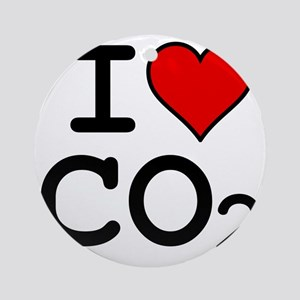 CO2_big_blk Round Ornament