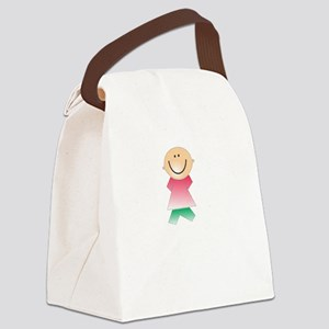 Pooped Today White Canvas Lunch Bag