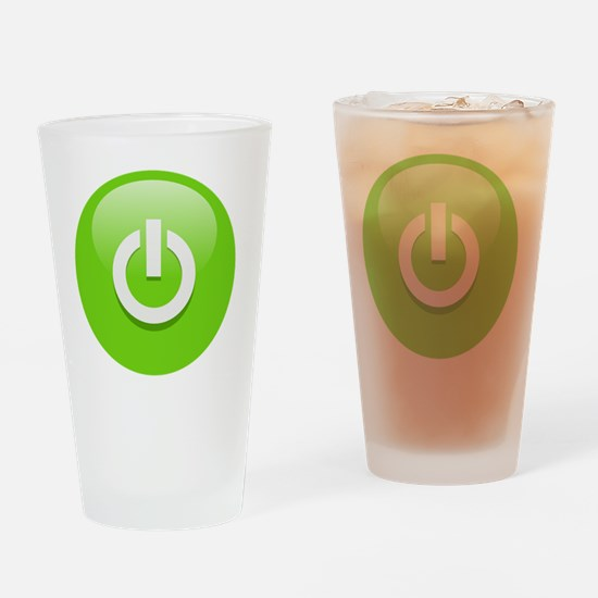 Power Green Drinking Glass