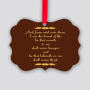 John 6:35 Wheat Picture Ornament