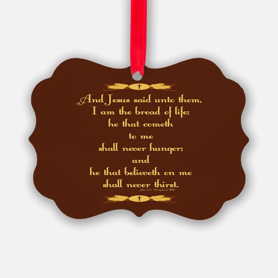 John 6:35 Wheat Ornament