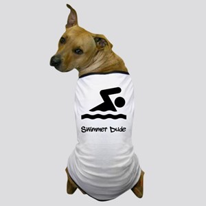 Swimmer Dude Black Dog T-Shirt