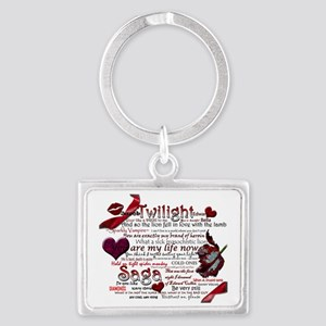 Twilight Book Quotes Landscape Keychain