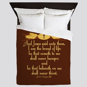 John 6:35 Wheat Queen Duvet