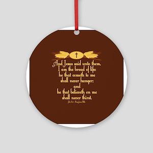 John 6:35 Wheat Ornament (Round)