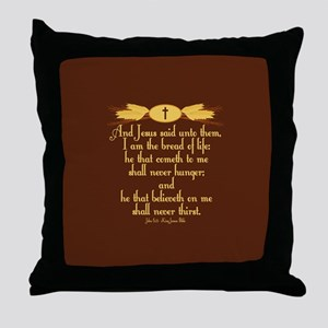 John 6:35 Wheat Throw Pillow