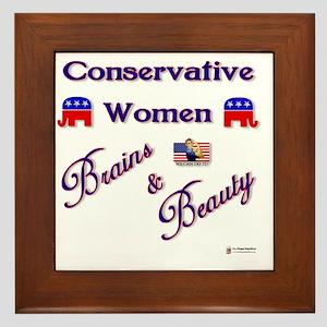 Conservative Women Framed Tile