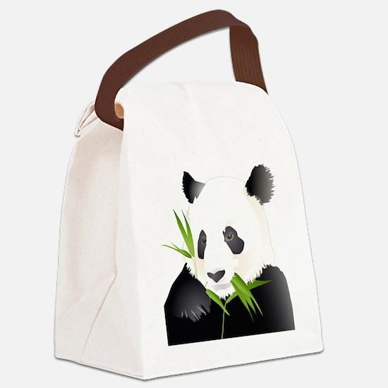 Panda Bear Canvas Lunch Bag